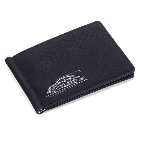 VW Beetle Money Clip & Business Card Case Set