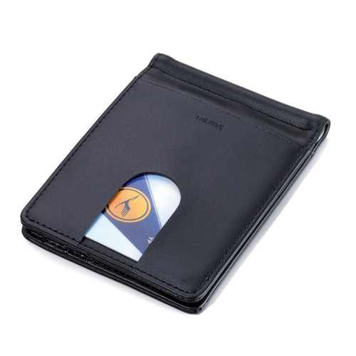 Money Clip Wallet & Card Case Black