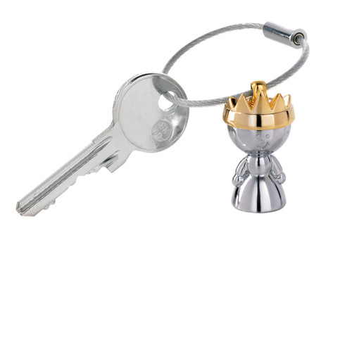 Keyring Little Queen Golden Crown Silver