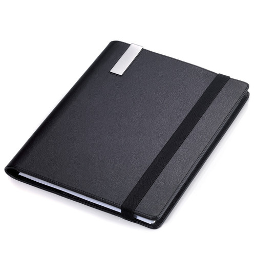 Travel Folder with A4 Notepad Black