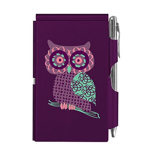 Flip Notes® OWL with Ballpoint Pen Purple