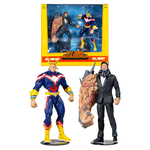 """All Might vs All for One 2-Pack (My Hero Academia) 7"""" Figures (PRE-ORDER ships November)"""