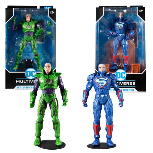 "Lex Luthor w/Green Power Suit & Blue Power Suit 7"" Figures Combo (2) (PRE-ORDER ships November)"