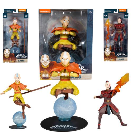 """Aang & Prince Zuko 7"""" Figures w/ 12"""" Aang (Avatar: The Last Airbender) Bundle Set (3) (PRE-ORDER ships October)"""