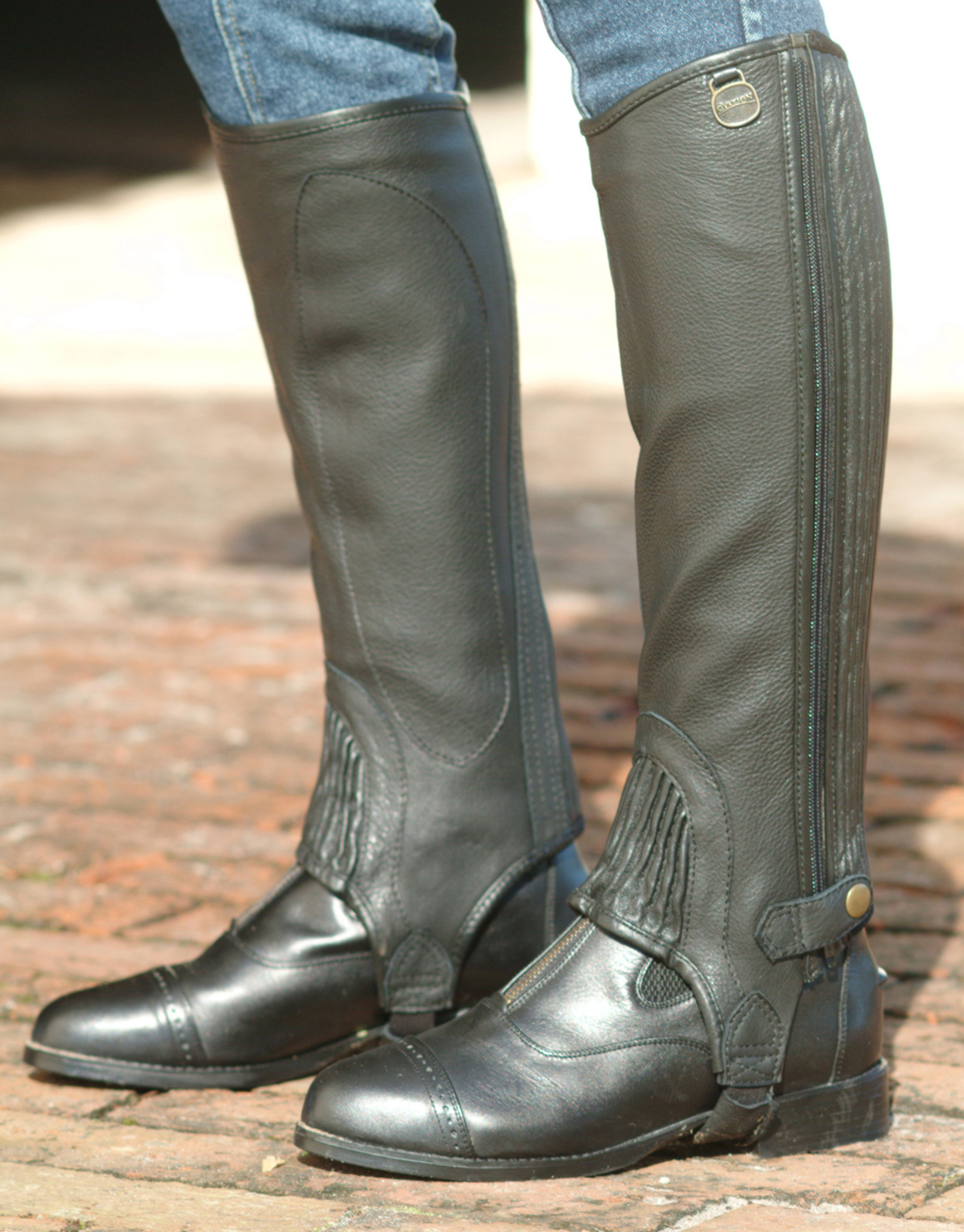 Ovation Stretch Ribbed Top Grain Half Chaps The Lexington Horse