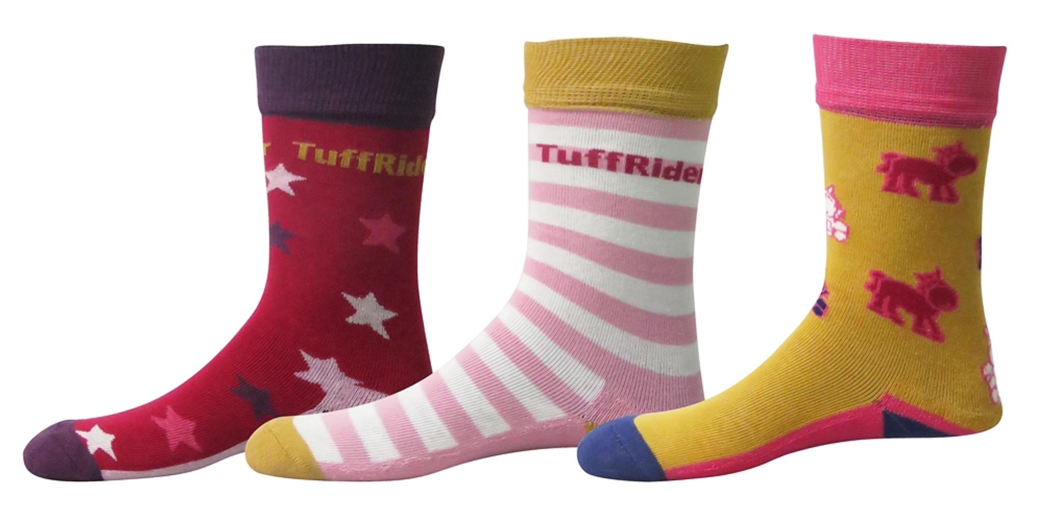 3 Pack TuffRider Philip Kids Socks
