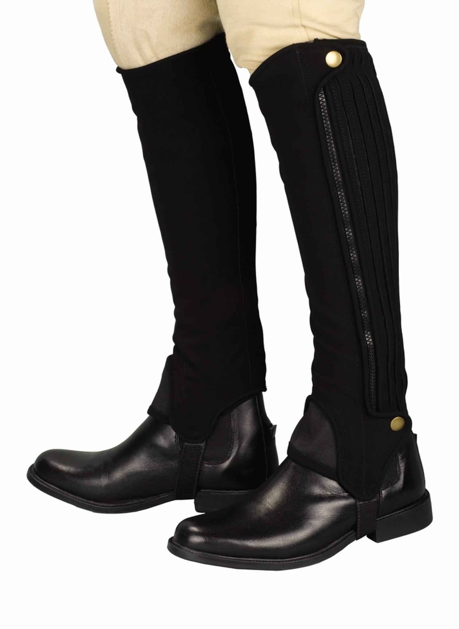 TuffRider Grippy Grain Half Chap Tall XL Brown