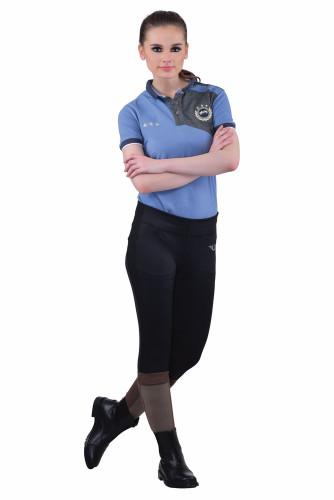 TuffRider Ladies Ventilated Schooling Tights - black w/black