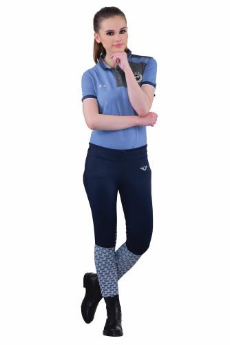 TuffRider Ladies Ventilated Schooling Tights - navy