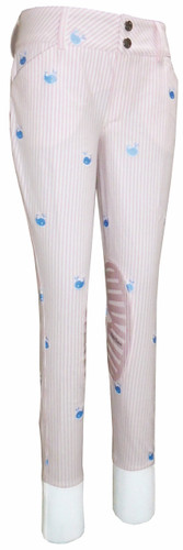 Equine Couture Children's Stripe Whales Breeches - pink