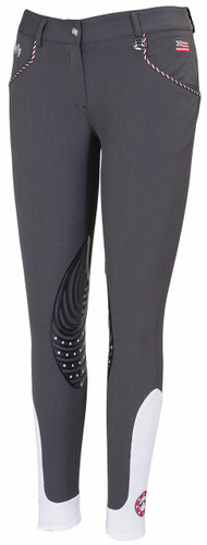 Equine Couture Centennial Knee Patch Breeches - charcoal