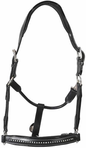 HDR Padded Crystal Halter - black
