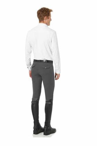 Romfh Men's Argento Euro Seat Breeches - steel grey