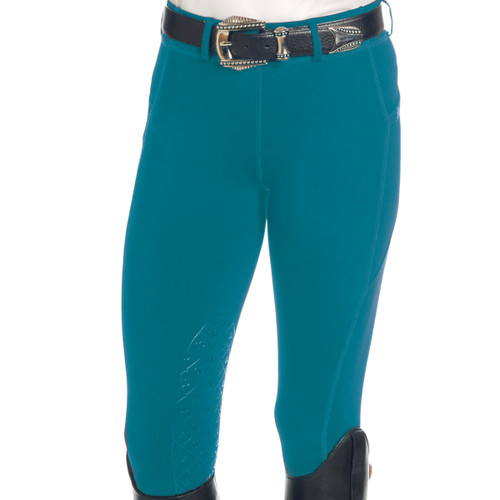 Ovation Ladies AeroWick Silicone Knee Patch Tights - dark teal