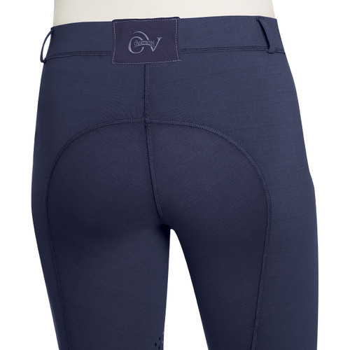 Ovation Ladies AeroWick Silicone Knee Patch Tights  - navy - back