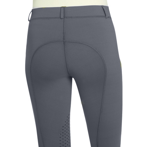 Ovation Ladies AeroWick Silicone Knee Patch Tights - grey - back