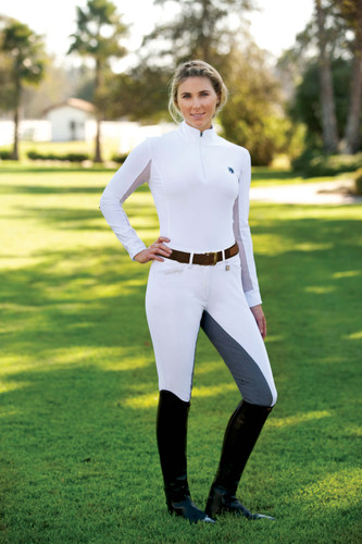 Romfh Sarafina Full Seat Breeches - white/lt. grey