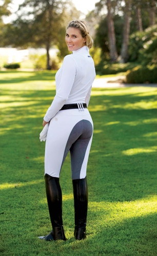 Romfh Sarafina Full Seat Breeches - white/lt. grey - back