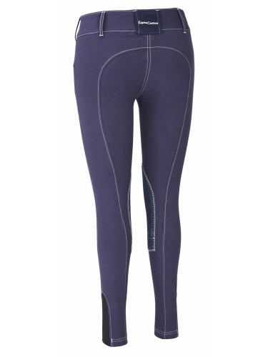Equine Couture Sportif Natasha Breeches - navy w/white stitching - back