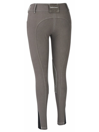 Equine Couture Sportif Natasha Breeches - charcoal w/white stitching - back