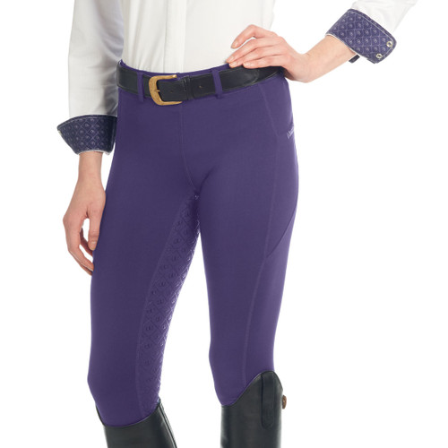 Ovation Ladies AeroWick Silicone Full Seat Tights - concord grape