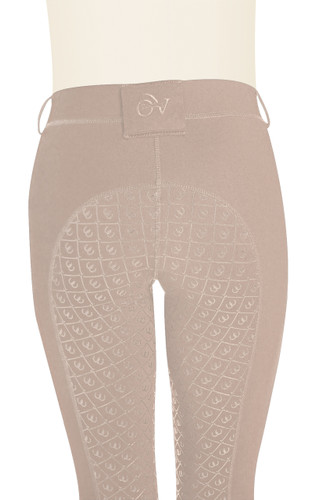 Ovation Ladies AeroWick Silicone Full Seat Tights - neutral beige - back