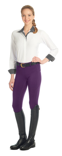 Ovation Ladies AeroWick Silicone Full Seat Tights - italian plum