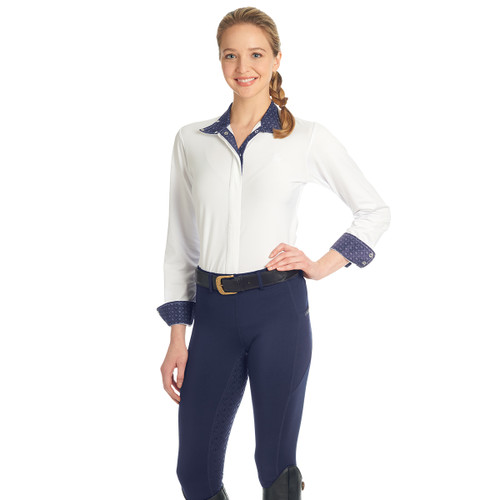 Ovation Ladies AeroWick Silicone Full Seat Tights - navy