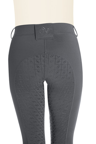Ovation Ladies AeroWick Silicone Full Seat Tights - grey - back