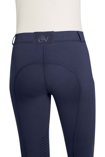 Ovation Child's AeroWick Silicone Knee Patch Tights - navy