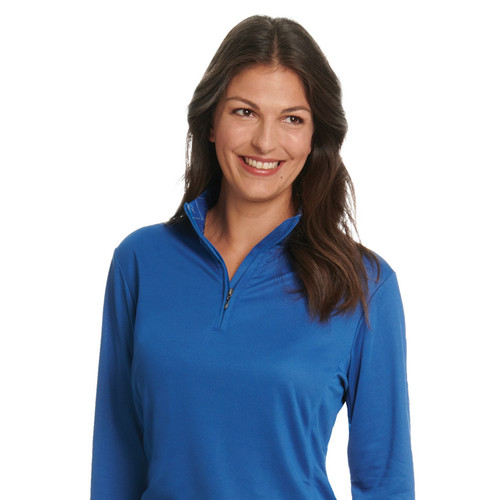 Ovation Ladies' Cool Rider Tech Shirt - victory blue