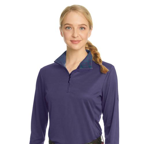 Ovation Ladies' Cool Rider Tech Shirt - grape