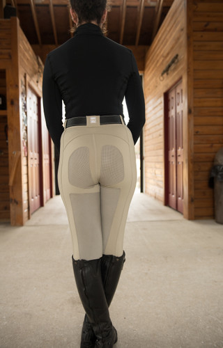 FITS PerforMAX™ Zip Front Full Seat Riding Breeches - Sahara - back