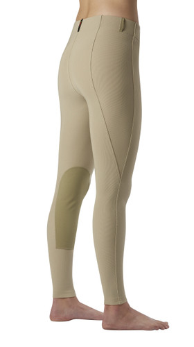 Kerrits Microcord Knee Patch Riding Breeches - tan - back