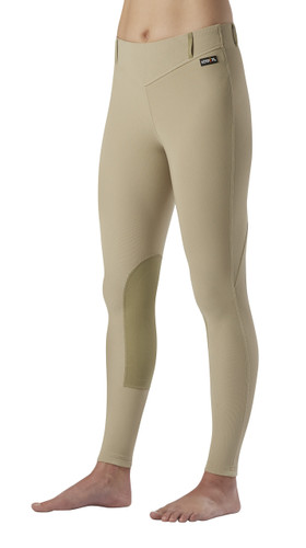 Kerrits Microcord Knee Patch Riding Breeches - tan
