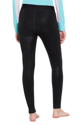 TuffRider Ladies 3 Season Riding Tights - black - back