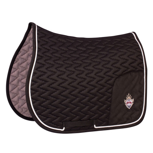 Equine Couture Wellington All Purpose Saddle Pad - black