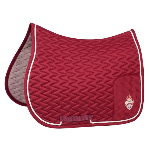 Equine Couture Wellington All Purpose Saddle Pad - wine