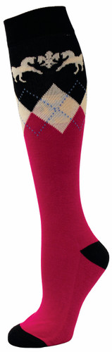 Equine Couture Hadley Socks 3 pack - hot pink/navy