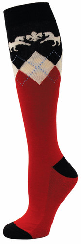 Equine Couture Hadley Socks 3 pack - red/navy