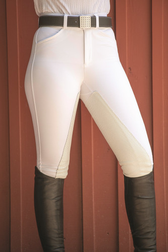 FITS PerforMAX Zip Front Slash Pocket Full Seat Breech - white