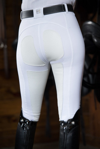 FITS PerforMAX Zip Front Slash Pocket Full Seat Breech - white - back