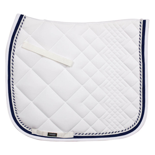 CATAGO Diamond Dressage Saddle Pad - white/navy