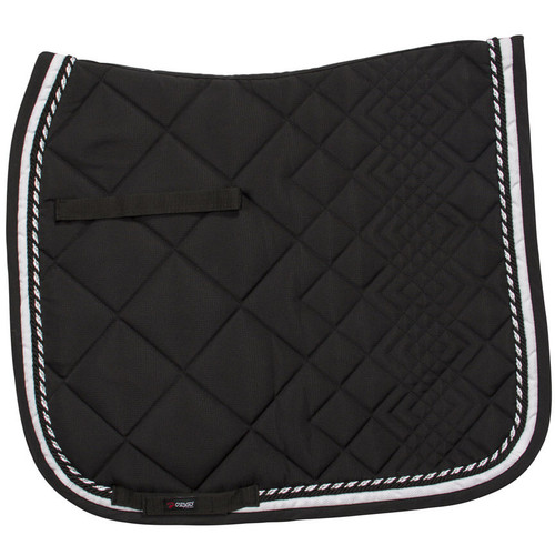 CATAGO Diamond Dressage Saddle Pad - black/white