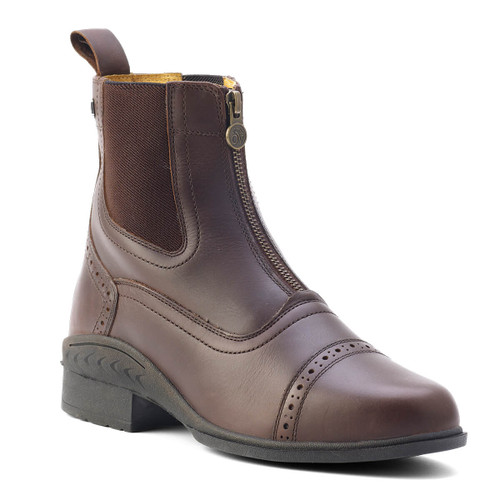 Ovation Child's Tuscany Zip Paddock Boots - brown