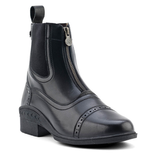 Ovation Child's Tuscany Zip Paddock Boots - black
