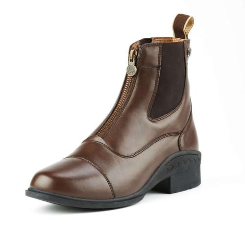Ovation Quantum Child's Zip Paddock Boots - brown