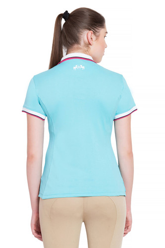 Equine Couture Kirsten Polo Shirt - aqua - back