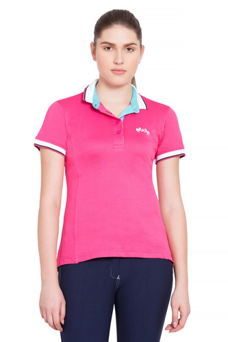 Equine Couture Kirsten Polo Shirt - hot pink