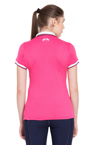 Equine Couture Kirsten Polo Shirt - hot pink - back